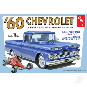 AMT 1960 Chevy Custom Fleetside Pickup with Go Kart 2T Plastic Kit