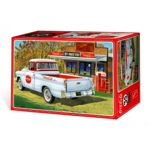 1955 Chevy Cameo Coca-Cola Pickup Truck 1:25 Scale AMT Highly Detailed Plastic Kit