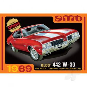 AMT 1:25 1969 Olds W-30 442 Car Plastic Kit
