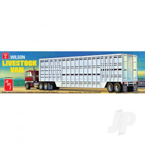 AMT 1:25 Wilson Livestock Van Trailer Truck Plastic Kit