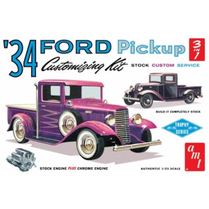 AMT 1934 Ford Pickup Truck Stock - Service - Custom 1:25 Car Plastic Kit