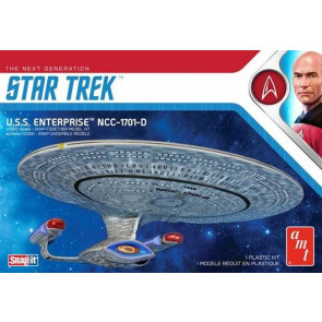 New Star Trek USS Enterprise 1701-D AMT 1:2500 Scale Highly Detailed Plastic Kit