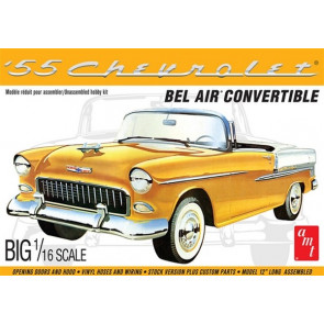 AMT 1955 Chevy Bel Air Convertible - BIG 1/16 SCALE! Plastic Kit Car Model American