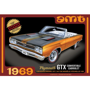 1969 Plymouth GTX Convertible Cabriolet 1:25 Scale AMT Highly Detailed Plastic Kit