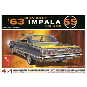 AMT 1:25 1963 Chevy Impala SS 2T Plastic Kit Car Model American