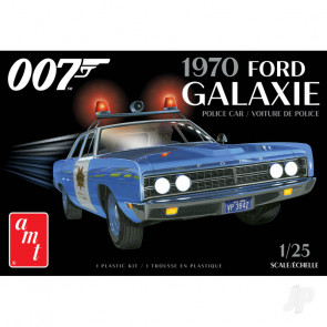 AMT 1970 Ford Galaxie Police Car (James Bond) 2T Plastic Kit