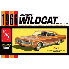 AMT 1:25 1966 Buick Wildcat Hardtop Plastic Kit Car Model American