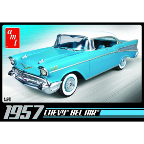1957 Chevy Bel Air Saloon 1:25 Scale AMT Detailed Plastic Kit
