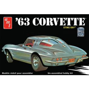 1963 Chevy Corvette Sting Ray 1:25 Scale AMT Detailed Plastic Kit