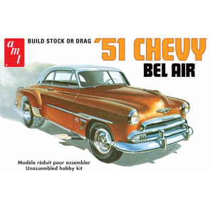 1951 Chevy Bel Air Saloon 1:25 Scale AMT Detailed Plastic Kit