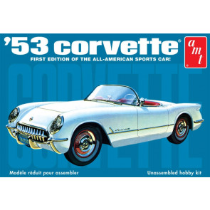 1953 Chevy Corvette 1:25 Scale AMT Detailed Plastic Kit