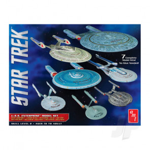 AMT 1:2500 Star Trek U.S.S. Enterprise Box Set - Snap Plastic Kit