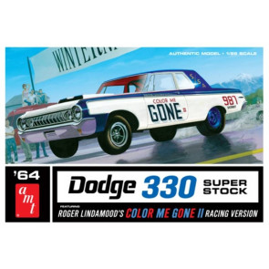 "1964 ""Color Me Gone"" Dodge 330 Superstock 1:25 Scale AMT Detailed Plastic Car Kit"