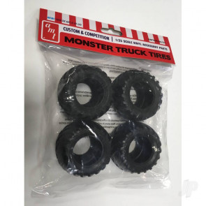 AMT Monster Truck Tire Parts Pack For Plastic Kit