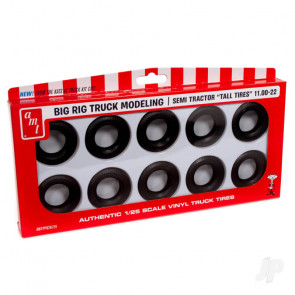AMT Semi Truck Tall Tires Pack For Plastic Kit