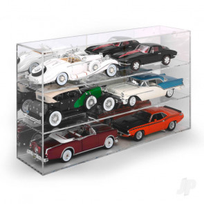 AMT Six-Car Acrylic Display Case For Plastic Kit