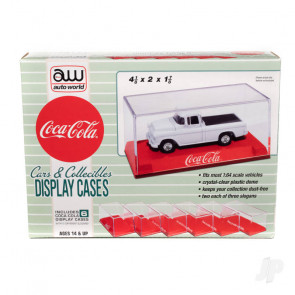 AMT Acrylic Display Case (6 Pack) Coca-Cola, Red Base For Plastic Kit