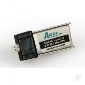 Ares LiPo 1S 50mAh 3.7V 10C, Ultra-Micro Battery