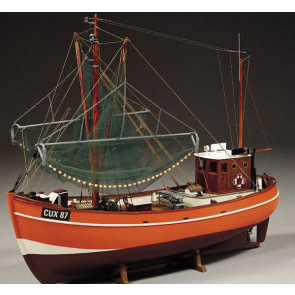 Cux 87 Krabbenkutter Fishing Trawler 1:33 Scale - Billing Boats Wooden Ship Kit B474