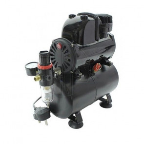 Badger Airbrush Compressor with Anti Pulsation Tank, Filter & Gauge