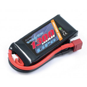 Voltz 1300mAh 2S 7.4v 30C LiPo RC Battery w/Deans Connector Plug