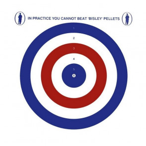 "Bisley 17cm (6.75"") Grade 1 Coloured Shooting Targets - Pack of 100"