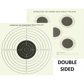 "Bisley 17cm (6.75"") Grade 1 Double Sided 5 & 1 Shooting Targets - 100"