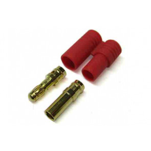 Etronix 3.5mm Gold Bullet Connector with Housing ET0603