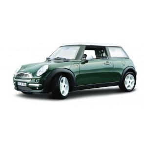 Burago 2001 Mini Cooper | British Racing Green | 1/18 Diecast Metal Car Kit