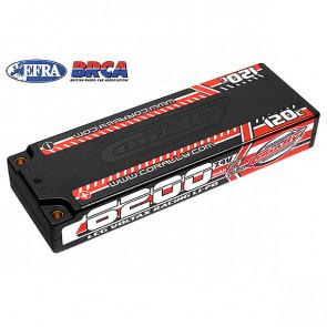 Team Corally Voltax 6200mAh 7.4V 2S 120C Hard Case Stick RC Car LiPo Battery