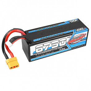 Team Corally X-Celerated 6750mAh 4S 14.8v 100C Hard Case LiPo Battery for RC Car