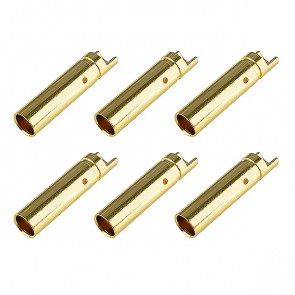 Corally Bullit Connector 4.0mm Female Gold Plated Ultra Low