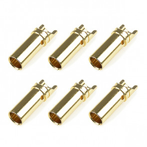 Corally Bullit Connector 5.0mm Female Gold Plated Ultra Low
