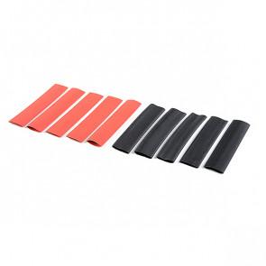 Corally Shrink Tubing 9.5mm Red + Black 10 Pcs
