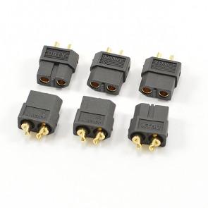 CENTRO XT-60 BLACK FEMALE CONNECTORS (6PC)