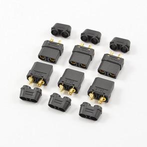 CENTRO XT-90 BLACK FEMALE CONNECTORS (6PC)