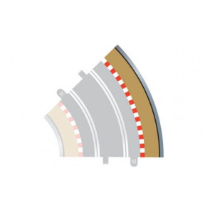 Scalextric C8228 Radius 2 Curve Outer Borders 45° (x4) 1:32 Extra Track Border