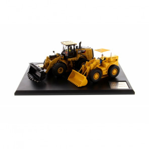 1:50 Cat 966A Wheel Loader & 966M Wheel Loader, Diecast Scale Construction Vehicle