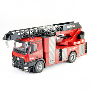 Huina 1:14 RC Fire Engine Ladder Truck - Working Lights, Sound & Hose!