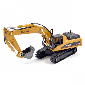 Huina 1/50 Diecast Excavator Static Model Construction Vehicle