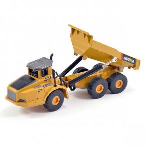 Huina 1/50 Diecast 6-wheel Dump Truck Static Model Construction Vehicle