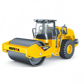 Huina 1/50 Diecast Road Roller Static Model Construction Vehicle