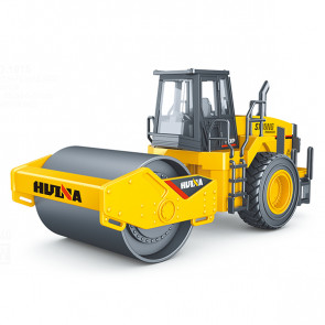 Huina 1/40 Diecast Road Roller Static Model Construction Vehicle