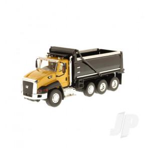 1:50 Cat CT660 Dump Truck - Yellow, Diecast Scale Construction Vehicle