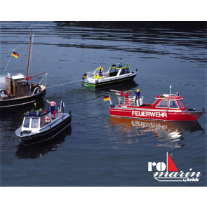 Dolly Harbour Launch Motorboat including Fittings Kit 1:20 Scale Krick Robbe RC Kit