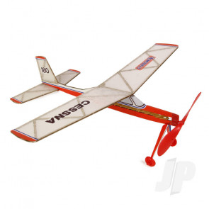 DPR Cessna 180 Rubber Powered Freeflight Balsa Model Aircraft Kit