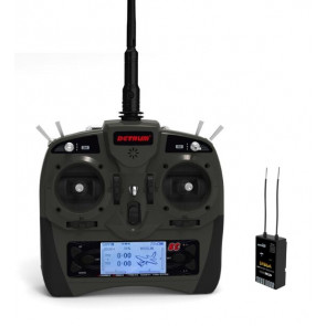 Dynam Detrum Gavin 8CH Digital 2.4GHz Radio System with SR86A Receiver & Gyro