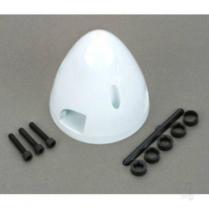 Dubro 2-1/2in Three Blade Spinner White  for RC Model Planes
