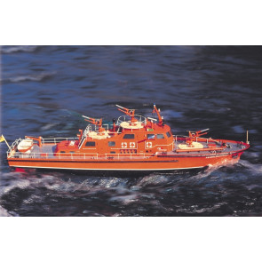 Dusseldorf Fire-Fighting Boat with Fittings - 1:25 Scale Krick Robbe RC Model Kit