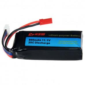 Dynam 11.1v 800mah 25c Lipo Battery (Rapid)